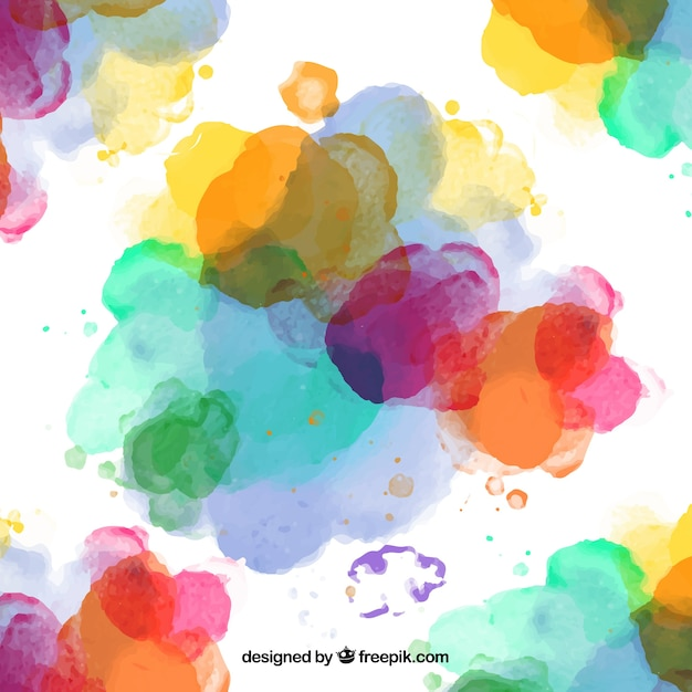 Colorful paints splashes Free Vector