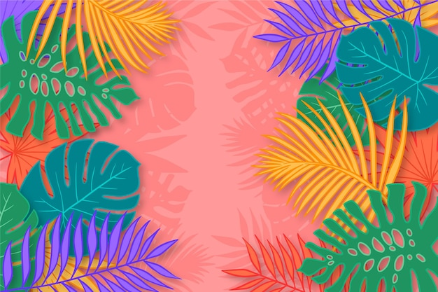 Colorful palm tree silhouettes wallpaper Free Vector