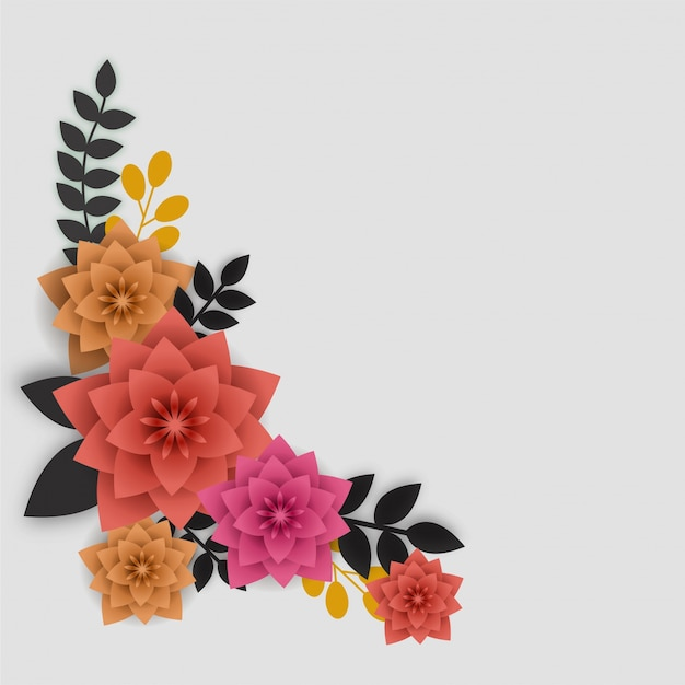 Colorful paper flowers and leaves vector premium download colorful paper flowers and leaves premium vector mightylinksfo
