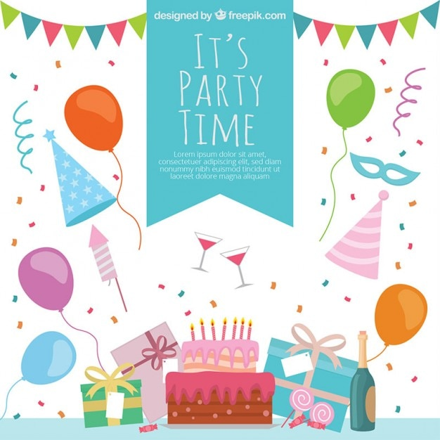 Party Time Vectors Photos and PSD files Free Download