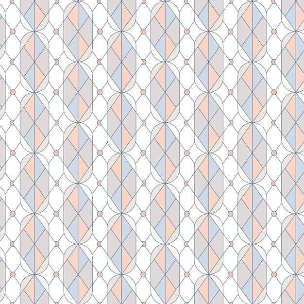 Colorful pastel geometric seamless pattern vector Free Vector
