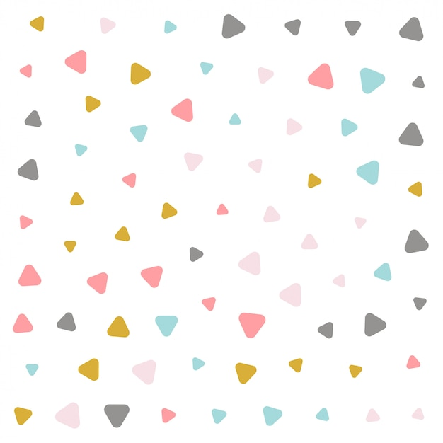 Colorful pastel triangle pattern design Free Vector