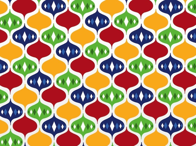 Colorful pattern background fun party wallpaper Free Vector
