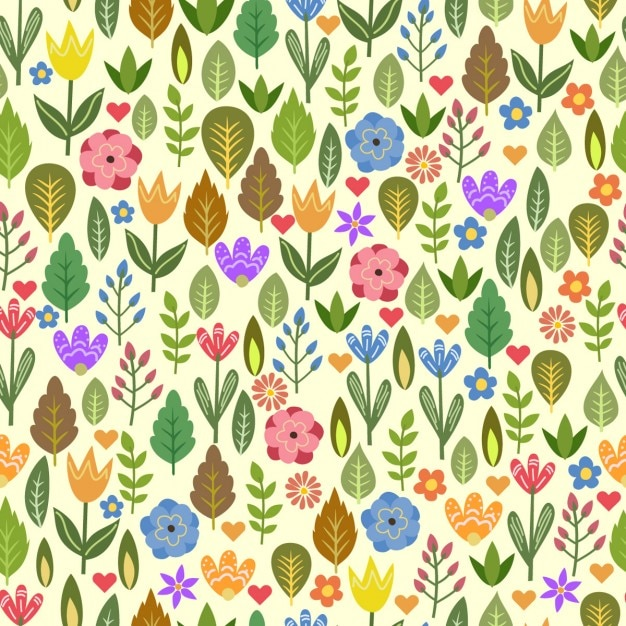 Colorful pattern with beautiful flowers Free Vector