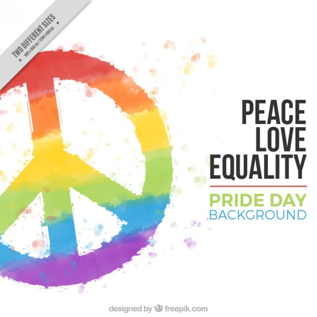 Colorful Peace Symbol Background Vector Free Download