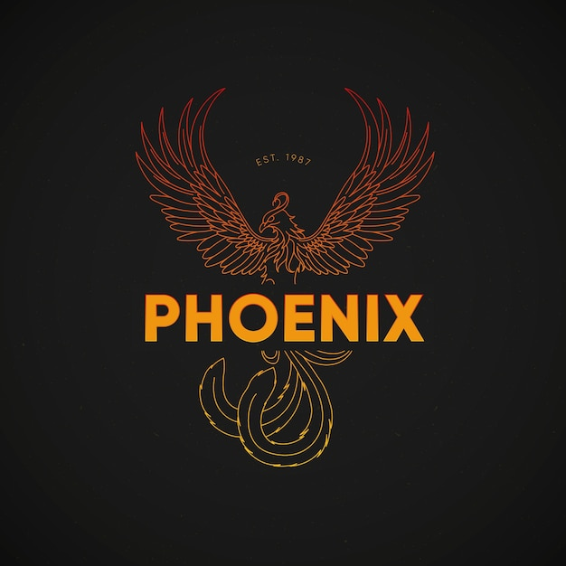Colorful phoenix logo concept Free Vector