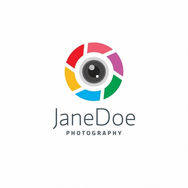 Colorful photography logo Free Vector