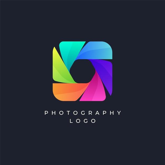 Colorful photography logo Premium Vector