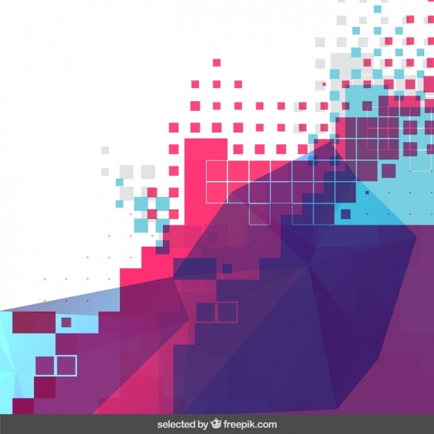 Colorful Pixelated Background