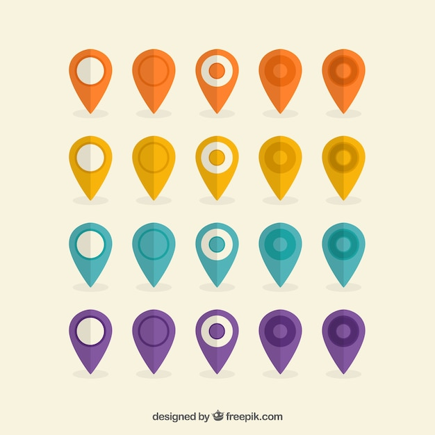 Colorful placeholder collection Free Vector