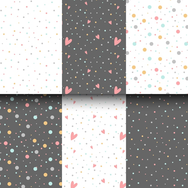 Colorful polka dots design vector Free Vector