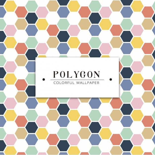 Colorful polygon shapes wallpaper Vector | Free Download