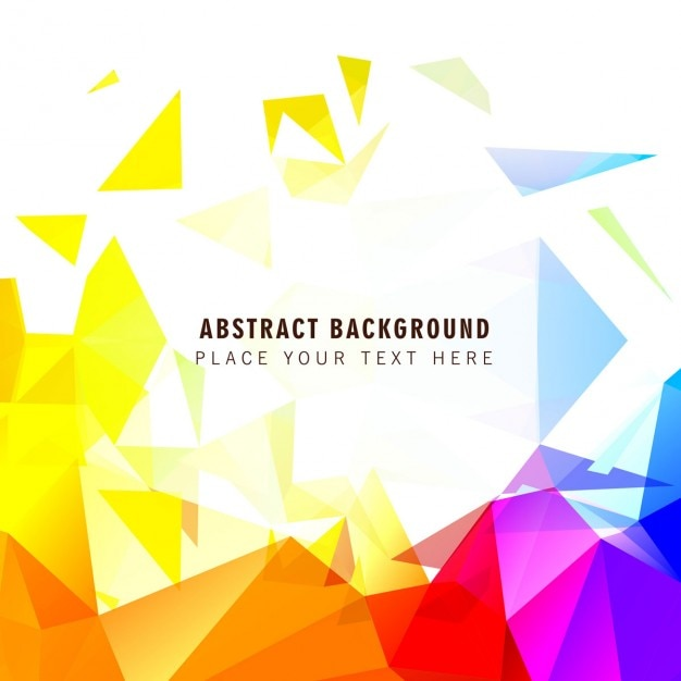 abstract polygonal colorful background - photo #28