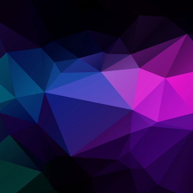 Abstract Colorful Triangle Shape: Colorful Polygonal Background