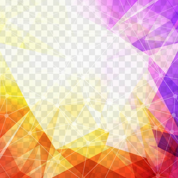 Purple Polygonal Abstract Background: Colorful Polygonal Background Vector