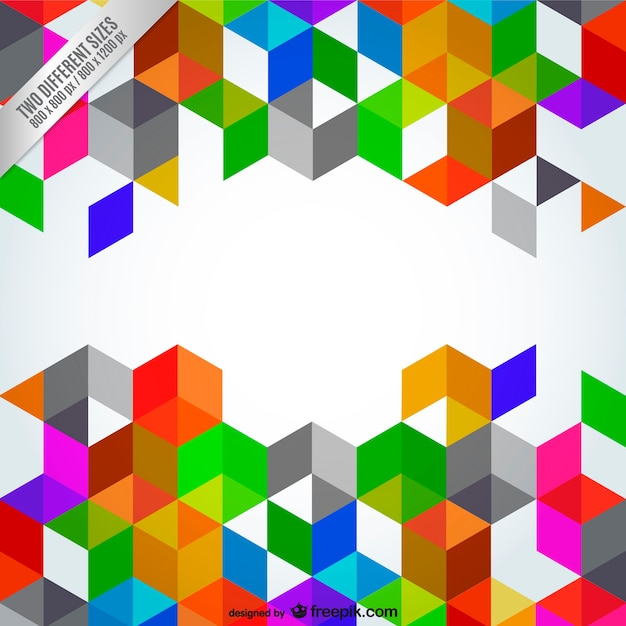 abstract polygonal colorful background - photo #15