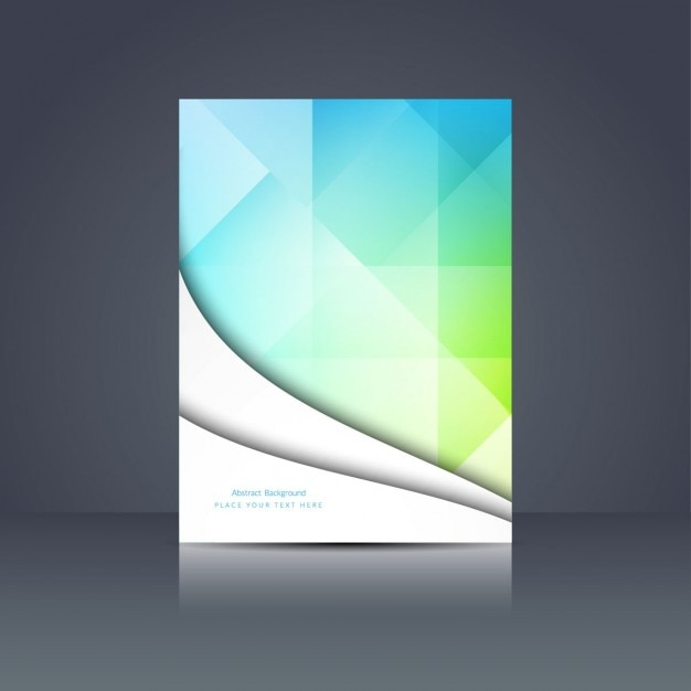 Book Cover Design Vector Download : Colorful polygonal brochure design vector free download