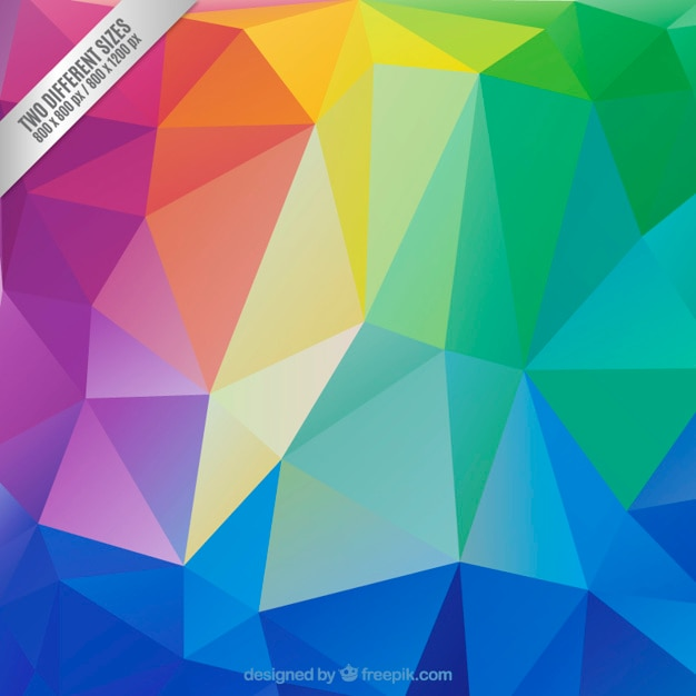 Colorful polygons background Free Vector