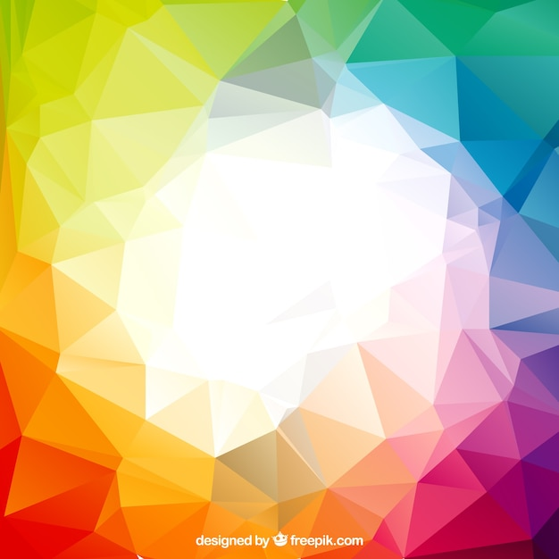 Colorful polygons Free Vector