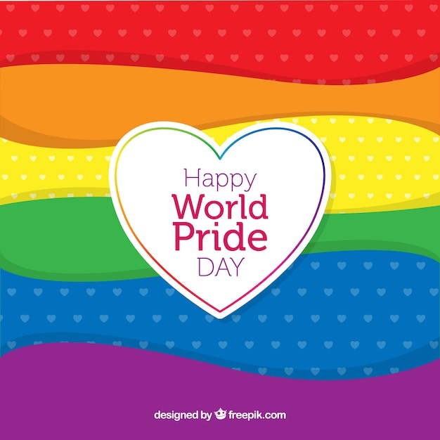 Colorful pride day background Free Vector