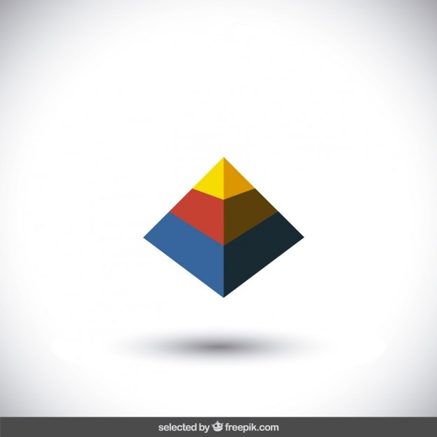 colorful pyramid logo vector free download