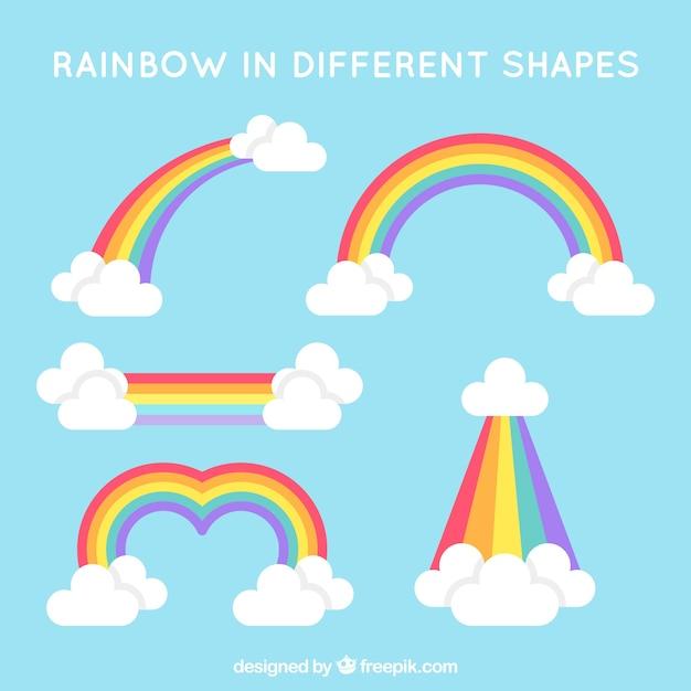 Красочный набор радуги Бесплатные векторы