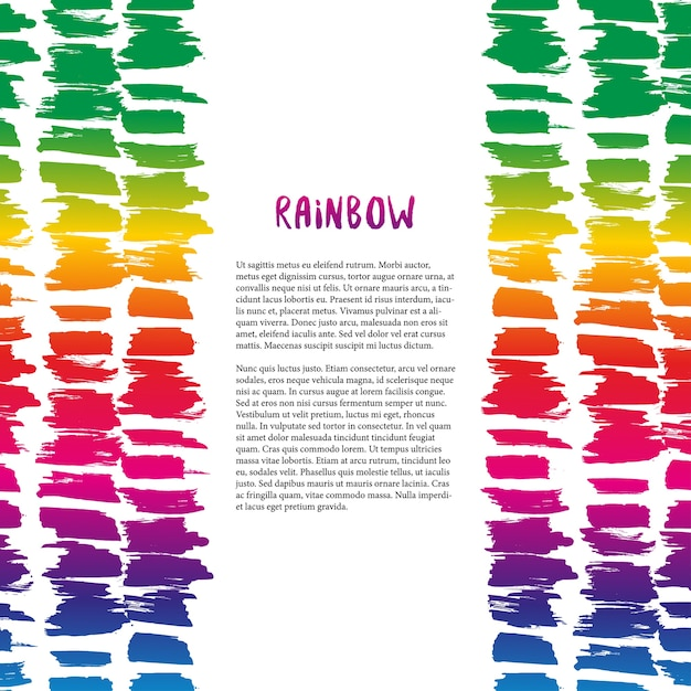 Colorful Rainbow Texture Decoration. Vector Template For