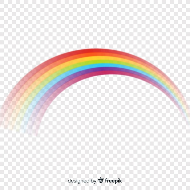 Colorful rainbow wave isolated on transparent Free Vector