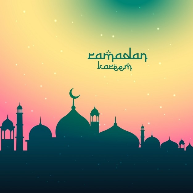 Colorful Ramadan Background Design Vector Free Download