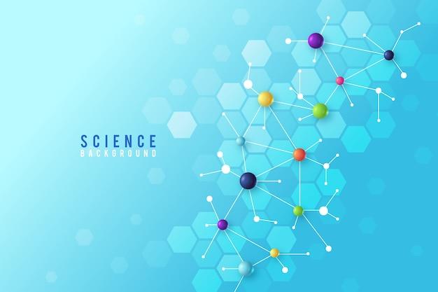 Sfondo colorato scienza realistica Vettore gratuito