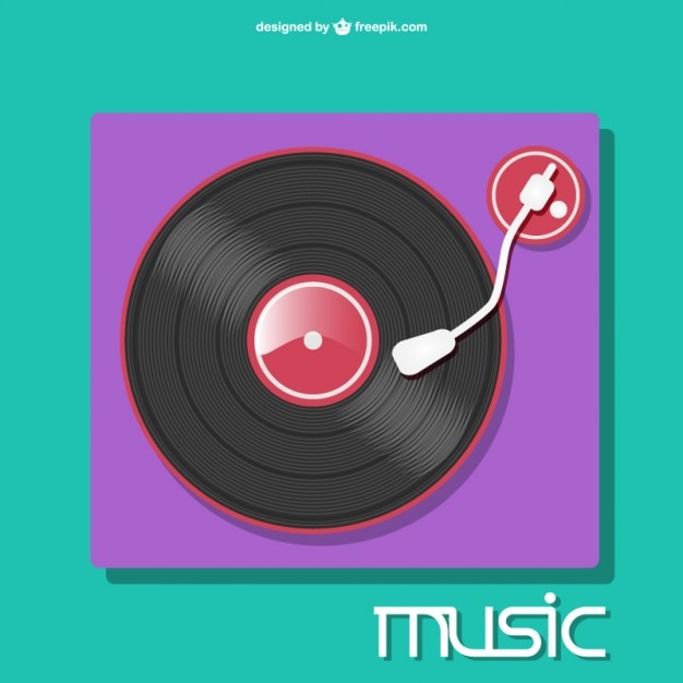 colorful record-player vector vector   free download