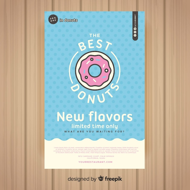 Colorful restaurant flyer template Free Vector