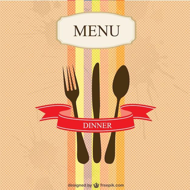 Colorful restaurant menu Free Vector