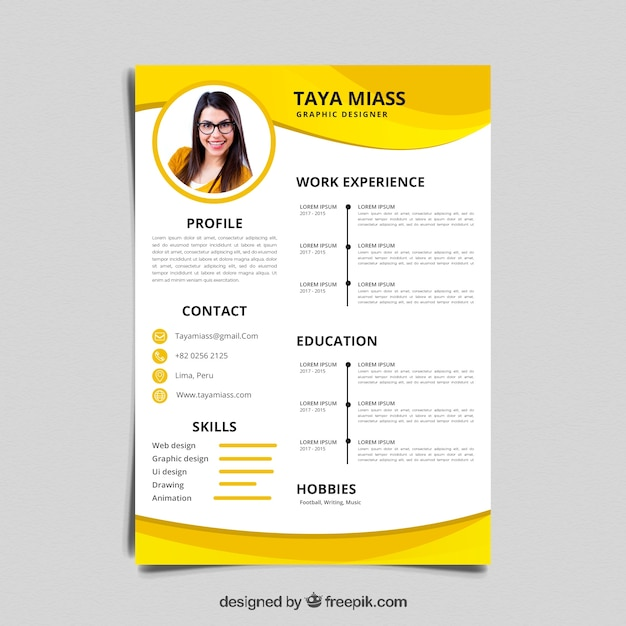 colorful resume template vector