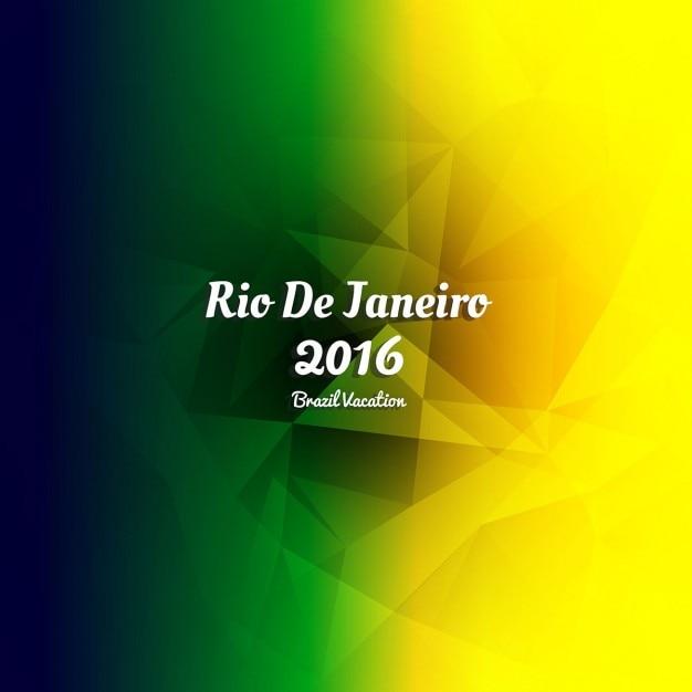 Многоугольная бразилия цвета фона Бесплатные векторы