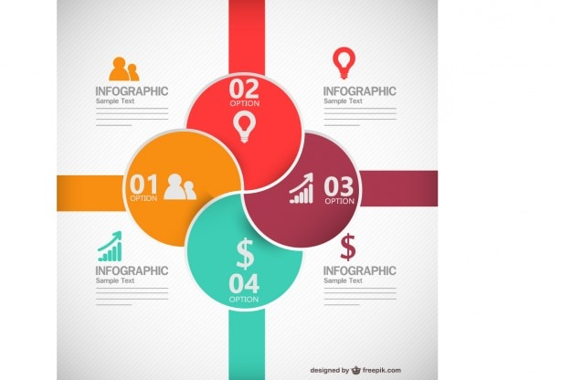 Colorful round business infographic Free Vector