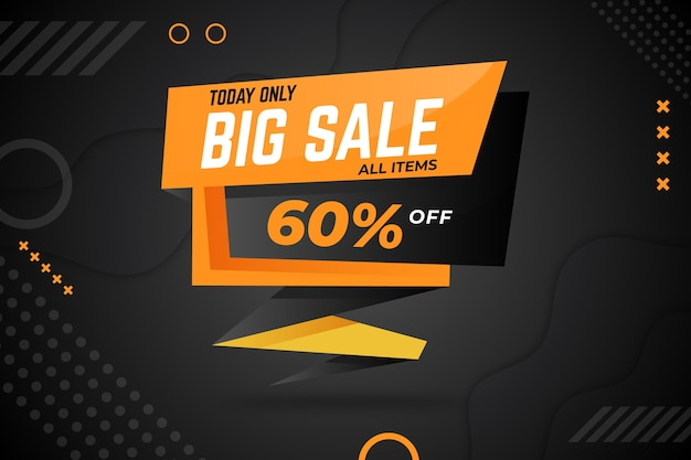 Colorful sales banner in origami style concept Free Vector