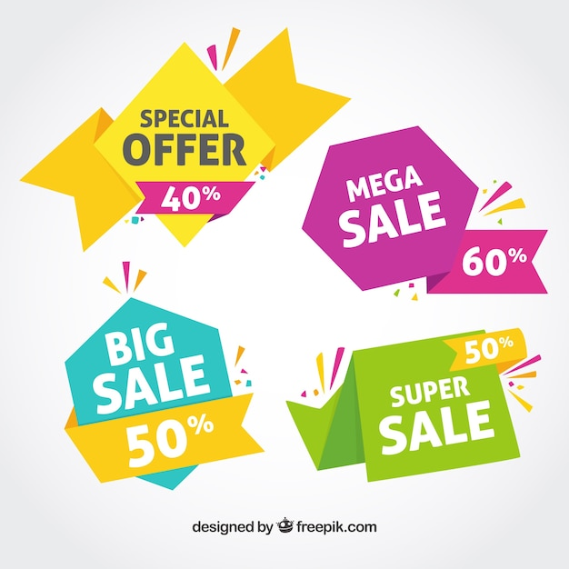 colorful sales banner free vector