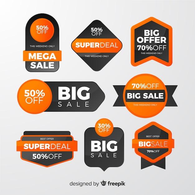 Коллекция красочных продаж этикетки Premium векторы
