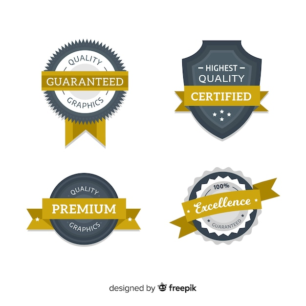 Colorful set of modern badges Free Vector
