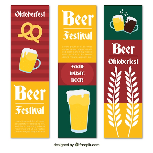 Colorful set of oktoberfest banners