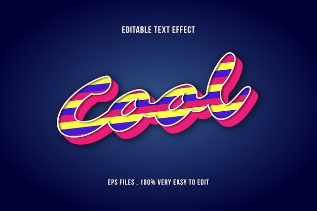 Colorful shape bold text effect Premium Vector