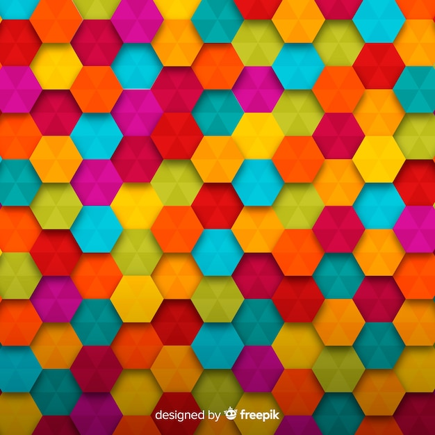 Colorful shaped background Free Vector