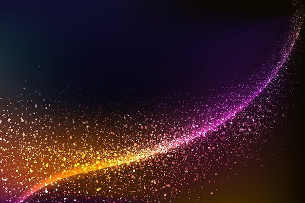 Colorful shiny wave background Free Vector