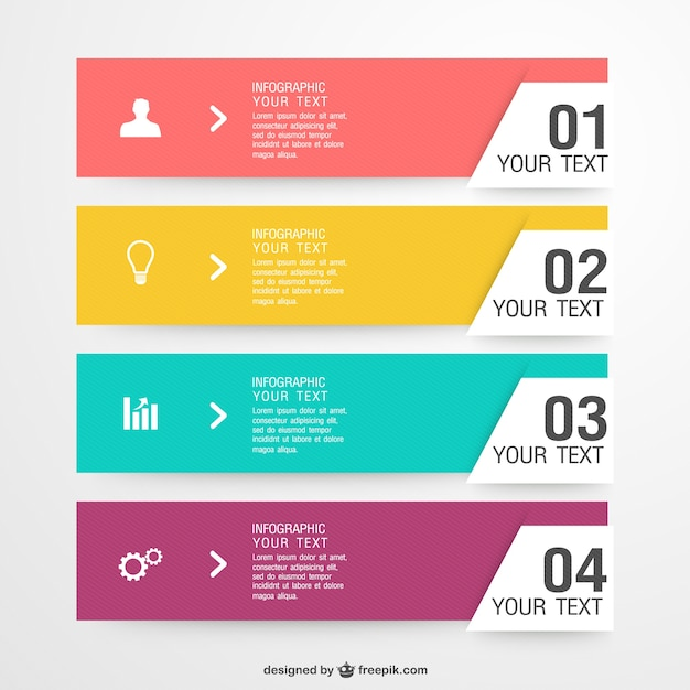 Colorful shopping infographic Vector | Free Download
