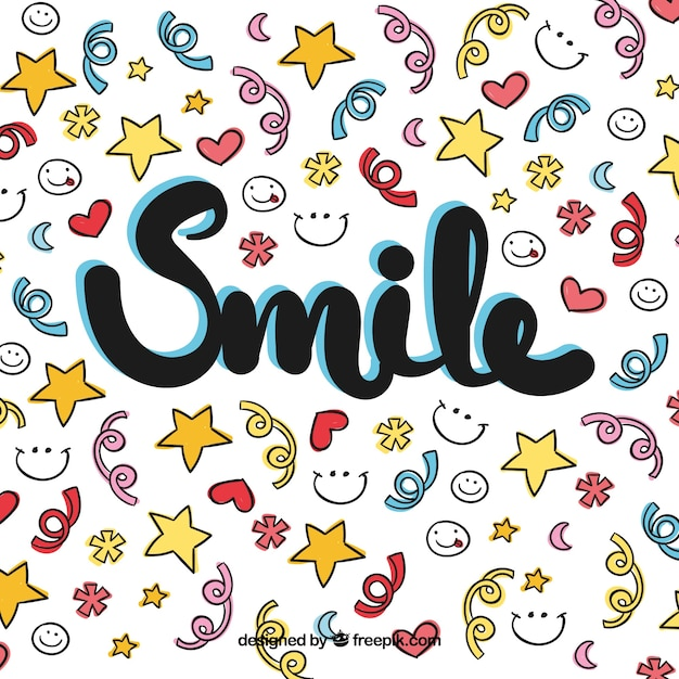 Colorful smile background Free Vector