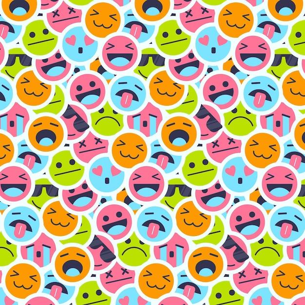 Красочная улыбка смайликов Бесплатные векторы