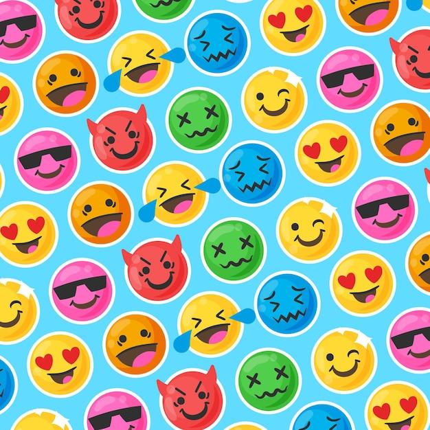 Красочная улыбка смайликов Premium векторы