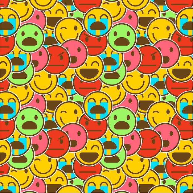 Modello di emoticon sorriso colorato Vettore gratuito