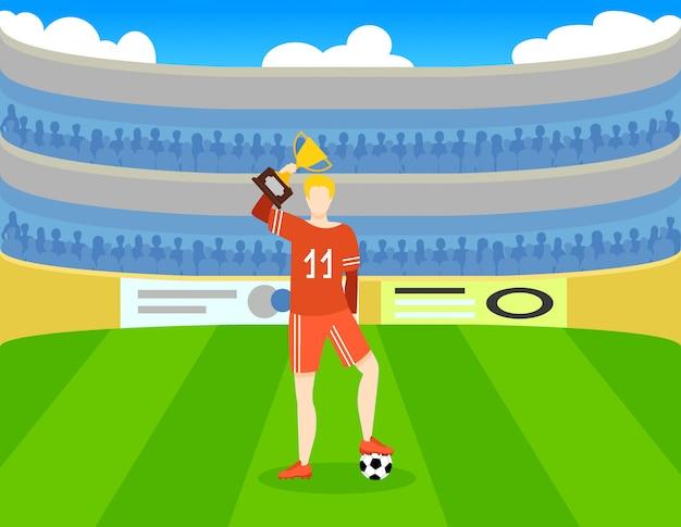 Modello di premio calcio colorato Vettore gratuito